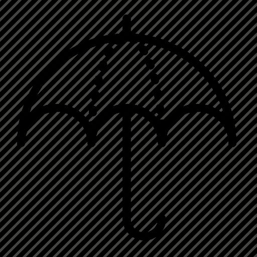 accessory, opened, protection, rain, umbrella icon