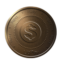 bronze, coin, liqpay icon