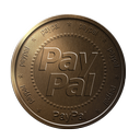 bronze, coin, paypal icon