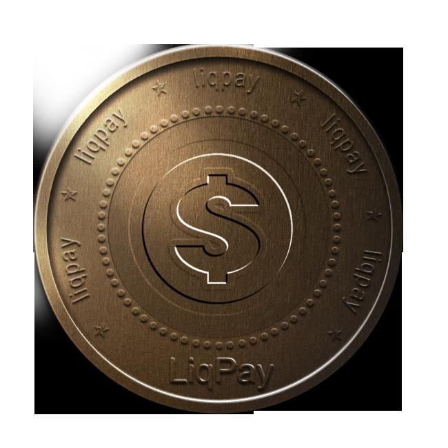 bronze, coin, liqpay icon