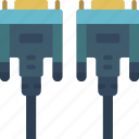 cable, component, computer, dvi, hardware, pc icon