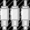 cable, component, computer, hardware, pc, rca icon