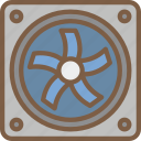 component, computer, cooling, fan, hardware, pc icon