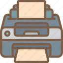 component, computer, hardware, pc, printer icon