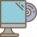 component, computer, disc, insert, pc icon