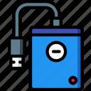 component, computer, drive, hard, pc, portable icon