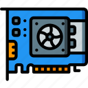 card, component, computer, graphics, hardware, pc icon