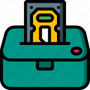 component, computer, dock, hardware, hdd, pc icon