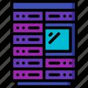 component, computer, hardware, pc, rack, server icon