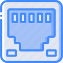 component, computer, ethernet, hardware, pc, port icon