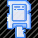 adapter, component, computer, micro, pc, sd icon