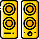 component, computer, hardware, pc, speakers icon