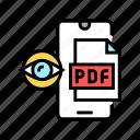 reading, pdf, file, mobile, phone, electronic