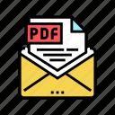 sending, pdf, file, electronic, format, cut