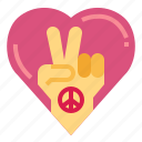 hand, heart, love, peace