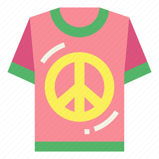 shirt clothes peace tshirt icon iconfinder