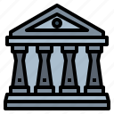 building, courthouse, judge, justice icon