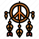 adornment, cultures, dreamcatcher, peace icon