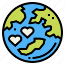 earth, love, peace, world icon