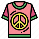 clothes, peace, shirt, tshirt icon