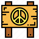 location, peace, sign, signaling