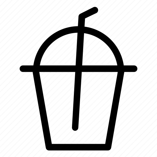 drink, liquid, soda, straw, water icon