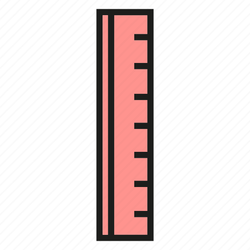 ruler, scale, stationery icon
