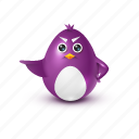 angry, decree, evil, pinguin icon