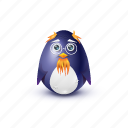 glasses, grandfather, old, pinguin icon