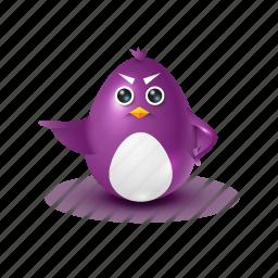 angry, decree, evil, pinguin icon