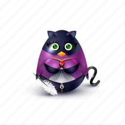 carnaval, cat, feather, mask, pinguin, super hero icon