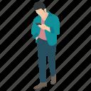 casual guy, male avatar, man using mobile, stylish guy, walking human icon