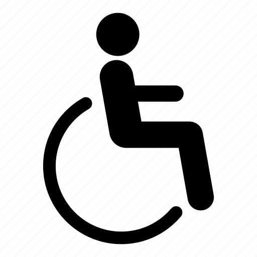 disability, disabled, invalid, wheelchair icon