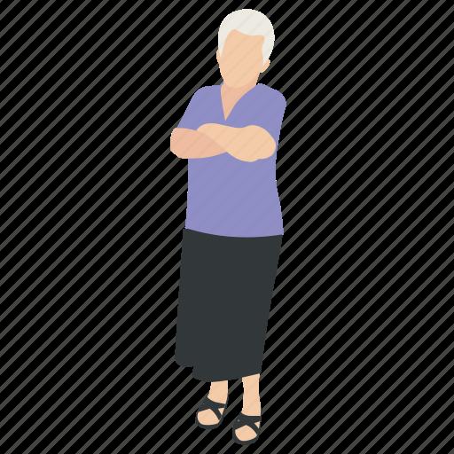 grandma, grandmother, mother, old lady, senior citizen icon