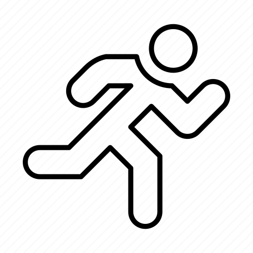 avatar, man, people, person, run, sport, user icon