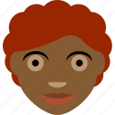 afro, avatar, person, woman