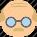 avatar, elderly, grandfather, senior