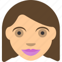 beautifull, female, lady, moom, profile