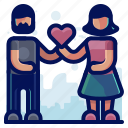 couple, love, man, relationship, romance, woman icon
