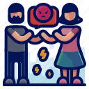 anger, angry, couple, fight, love, romance icon