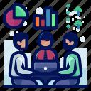 arrow, chart, chat, conversation, graph, pie, talk icon