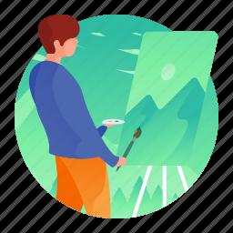 art, artist, drawing, man, painter, painting
