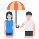 couple assurance, couple insurance, couple protection, family insurance, life insurance icon