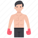 athlete, boxer, fighter, gymnastic man, punching man, wrestler icon
