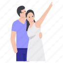 couple enjoying, friends, lovers, matrimonial, relationship, romantic couple, spouse icon