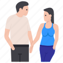 couple discussion, dating, lovers, matrimonial, relationship, romantic couple, spouse icon