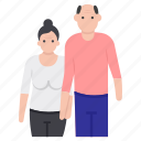 aged people, couple, matrimonial, relationship, senior citizen, senior people, spouse icon