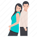 couple posing, friends, lovers, matrimonial, relationship, romantic couple, spouse icon