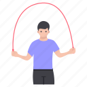 exercise, fitness, jumping rope, skipping rope, workout icon