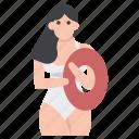 beach fun, beach girl, beach party, leisure activity, vacation icon